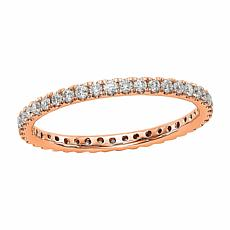 Radiant Fire 14K Gold .50ctw Lab-Grown Diamond Round  Eternity Band