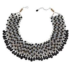"Rara Avis by Iris Apfel 20"" Black and White Beaded Collar Necklace"