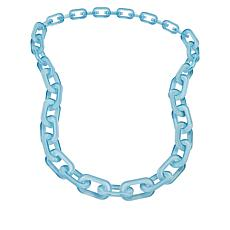 "Rara Avis by Iris Apfel 36"" Resin Oval Chain Link Necklace"