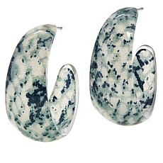 Rara Avis by Iris Apfel Animal Print Hoop Earrings