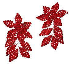 Rara Avis by Iris Apfel Beaded Double Flower Earrings