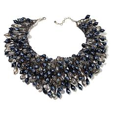 Rara Avis by Iris Apfel Beaded Smoky Waterfall Necklace