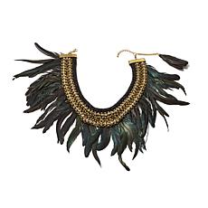 Rara Avis by Iris Apfel Black Feather Necklace
