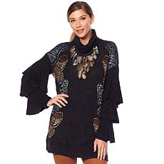 Rara Avis by Iris Apfel Butterfly Sleeve Sweater