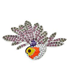 Rara Avis by Iris Apfel Crystal and Enamel Sparrow Brooch