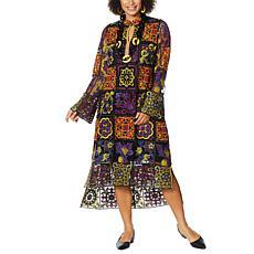 Rara Avis by Iris Apfel Embroidered Tunic Kaftan Dress