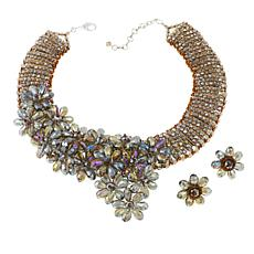 Rara Avis by Iris Apfel Floral Necklace and Earrings