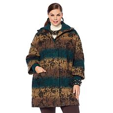 Rara Avis by Iris Apfel Floral Textured Patterned Coat