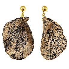 Rara Avis by Iris Apfel Freeform Leaf Painted Paper Dangle Earrings