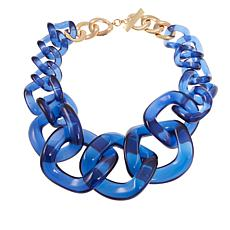 "Rara Avis by Iris Apfel Navy Big Freeform 23"" Link Necklace"