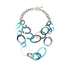 Rara Avis by Iris Apfel Oval-Link 2-Row Necklace