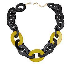 Rara Avis by Iris Apfel Short Two-Tone Link Necklace