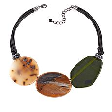 Rara Avis by Iris Apfel Triple Disc Short Necklace