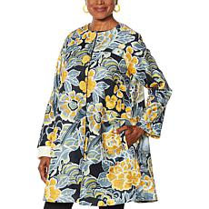 Rara Avis by Iris Apfel Tropical Print Twill Jacket
