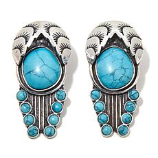 Rara Avis by Iris Apfel Turquoise-Color Stone Clip-On Earrings