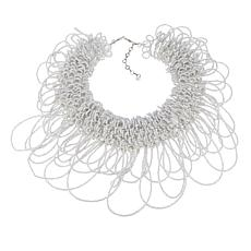 "Rara Avis by Iris Apfel White Beaded 16"" Collar Necklace"