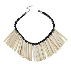 "Rara Avis by Iris Apfel Wood Stick 22"" Bib Necklace"