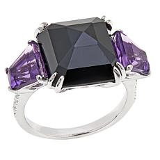 Rarities 11.85ctw Black Spinel & Gem Sterling Ring