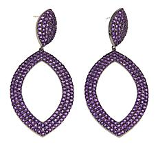 Rarities 12.87ctw Amethyst Marquise-Shaped Drop Earrings