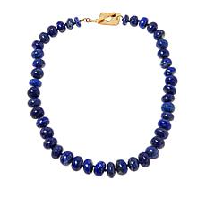 """Rarities 20"""" Gold-Plated Gemstone Rondelle Beaded Necklace"""