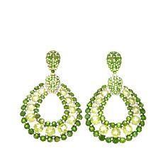 Rarities 8.88ct Peridot & Chrome Diopside Drop Earrings