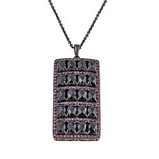"Rarities Black Spinel and Rhodolite 14"" Pendant Necklace"