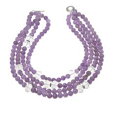 "Rarities Cape Amethyst and Gem 4-Strand Beaded 19"" Necklace"