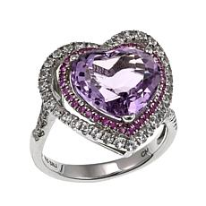 Rarities: Fine Jewelry with Carol Brodie 5.7ctw Multigem Heart Ring