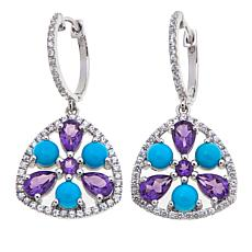 Rarities Gem and White Zircon Drop Earrings