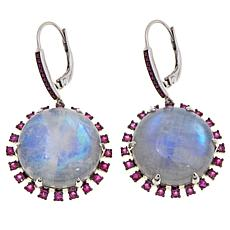 Rarities Gem Cabochon and Sapphire Drop Earrings