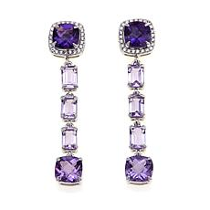 Rarities Gem Stud Earring with Removable 4-Stone Drop