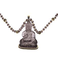 "Rarities Gemstone Carved ""Buddha"" and Diamond Necklace"