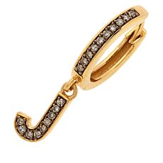 Rarities Gold-Plated Champagne Diamond Single Initial Earring