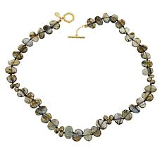 Rarities Gold-Plated Faceted Gemstone Toggle Necklace