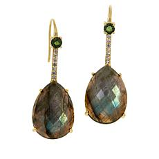 Rarities Gold-Plated Labradorite and Multi-Gemstone Drop Earrings