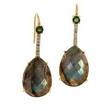 Rarities Gold-Plated Multi-Gemstone Drop Earrings