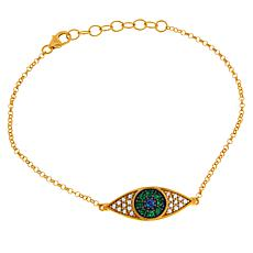 Rarities Gold-Plated Multi-Gemstone Evil Eye Bracelet