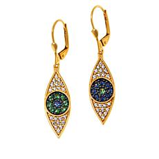 Rarities Gold-Plated Sapphire and Tsavorite Evil Eye Dangle Earrings