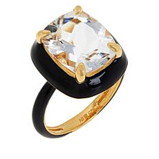 Rarities Gold-Plated Sterling Silver Gemstone and Enamel Ring