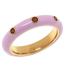 Rarities Gold-Plated Sterling Silver Gemstone Enamel Stack Ring