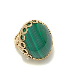 Rarities Malachite Cabochon Vermeil Ring