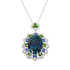 Rarities Malachite Multigem Pendant Necklace