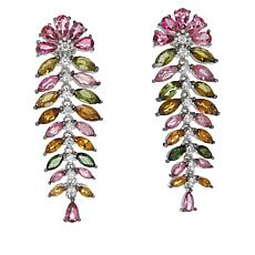 Rarities Multicolor Tourmaline and White Zircon Drop Earrings