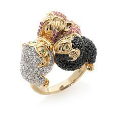 "Rarities Multigem ""See, Hear and Speak No Evil"" Ring"