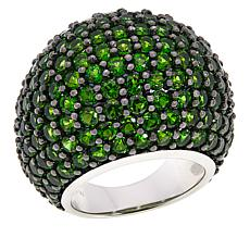 Rarities Sterling Silver Chrome Diopside Dome Ring