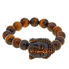 Rarities Tiger's Eye Buddha Bead Stretch Bracelet