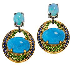 Rarities Turquoise Multigem Drop Earrings