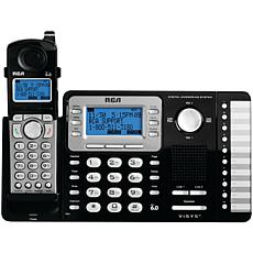 RCA® 25252 2-Line Expandable Cordless Phone w/Caller ID+Answering S...
