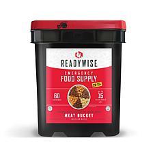 ReadyWise 60 Serving + 20 Bonus Rice Servings Freeze Dried Meat Bucket