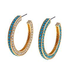 Real Collectibles by Adrienne® Jeweled Hoops